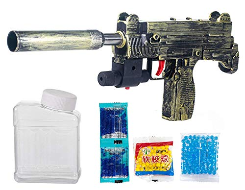 Storio PUBG Theme Uzi Submachine 2 in 1 Guns for Boys with 1000+ Crystal Water & Soft Foam Bullet Balls,Target Shooting Role Play Toy Gun Game for Kids Boys