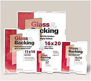"""MCS Glass And Backing Kit, Smooth Ground Edge Glass With Corrugated Backing Board, For 11x14"""" Photo."""