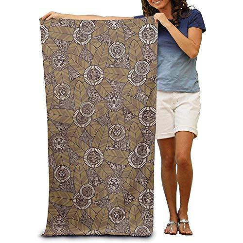 utong Toallas de Playa 100% algodón 80x130cm Toalla de Secado rápido para Nadadores Art Deco Beach Blanket