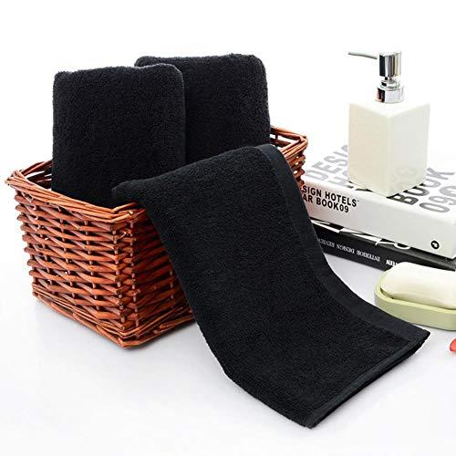 LASISZ Black Face Towels Cotton Soft Beach Towel Home Bathroom Shower Dry Hair Strong Water Absorption for Women Men