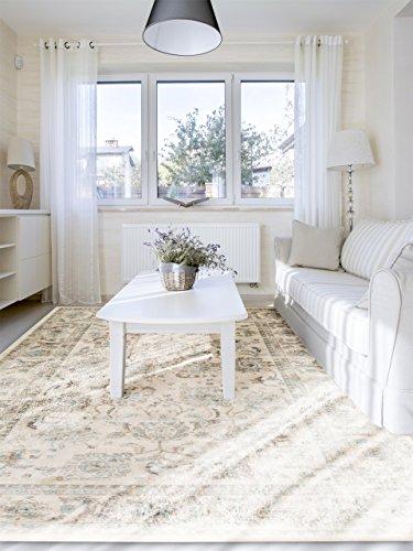 benuta Vintage Teppich im Used-Look Velvet Cream 160x230 cm | Moderner Teppich für Schlafzimmer und Wohnzimmer