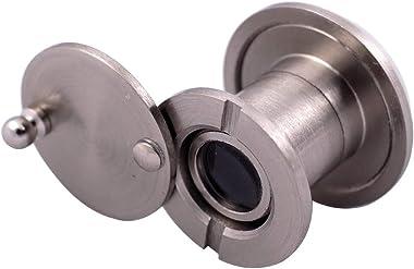 """Door Viewer for Narrow Panel Doors - Peephole (Satin Nickel) 5/8"""", 3/4"""", 7/8"""" Panel Thickness"""