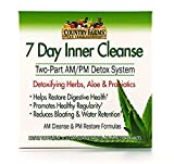 Country Farms 7 Day Inner Cleanse, AM/PM Detox System, Detoxifying Herbs, Aloe & Probiotics, Pack of 2 (N9070)