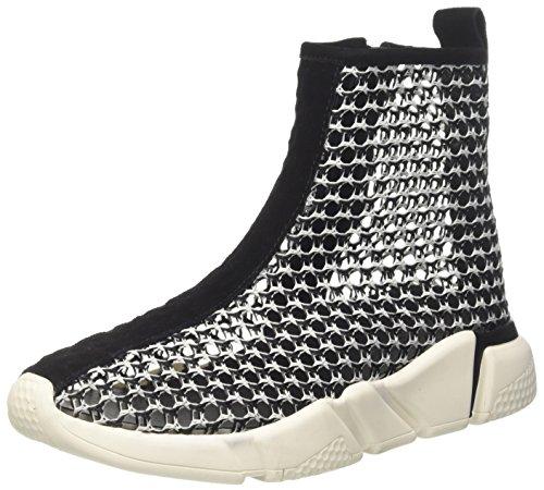 Jeffrey Campbell Damen 37Jc044 Weave Sock Hohe Sneaker, Mehrfarbig (Blackwhite/White Sole Blackwhite/White Sole), 41 EU