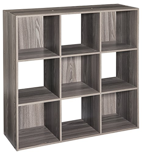 ClosetMaid 4167 Cubeicals Organizer, 9-Cube, Natural Gray