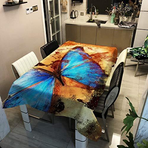 Mantel Impermeable De Poliéster Simple Moderno, Tapete De Mesa con Impresión Digital De Mariposa, Adecuado para Mantel Rectangular De Cafetería De Restaurante