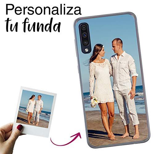 Mookase Funda para Samsung Galaxy A50/GALAXY A30S Personalizada para TU MÓVIL con Imagen O Texto, Carcasa Personalizable, Gel Flexible, Borde Trasparente, Regalo Original