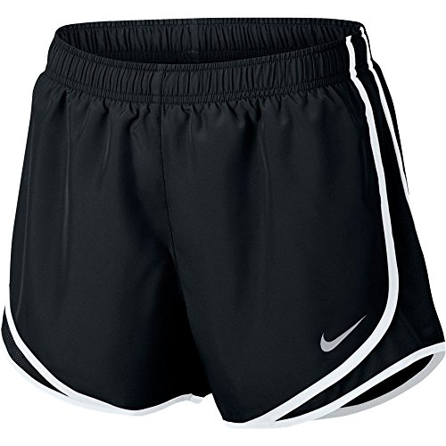 NIKE Women's Dry Tempo Running Short Black/White/Wolf Grey Size Small