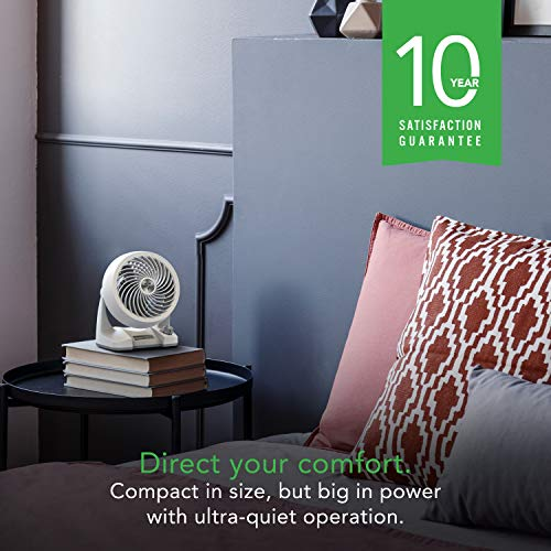 Vornado 133DC Energy Smart Compact Air Circulator Fan with Variable Speed Control, White