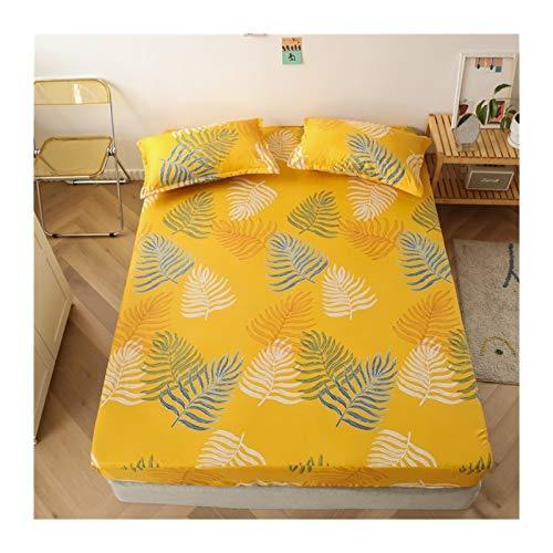 Juego de edredón King Tamaño Ropa de cama de lino Modelo grande Hoja de cama en forma de corazón-cama fijado for el colchón doble cubierta con elástico Sábana ( Color : Type 23 , Size : 90x200x25cm )