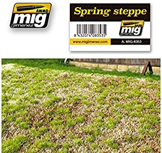 AMMO MIG-8353 Spring Steppe Grass Mats, Multicolour