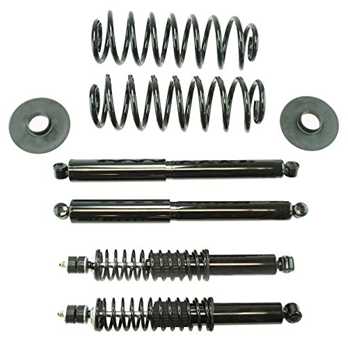 Air Bag to Coil Spring Conversion Kit for 1997-2002 Ford Expedition 2WD Detroit Axle - 1998-2002 Lincoln Navigator 2WD Front Shocks for 2