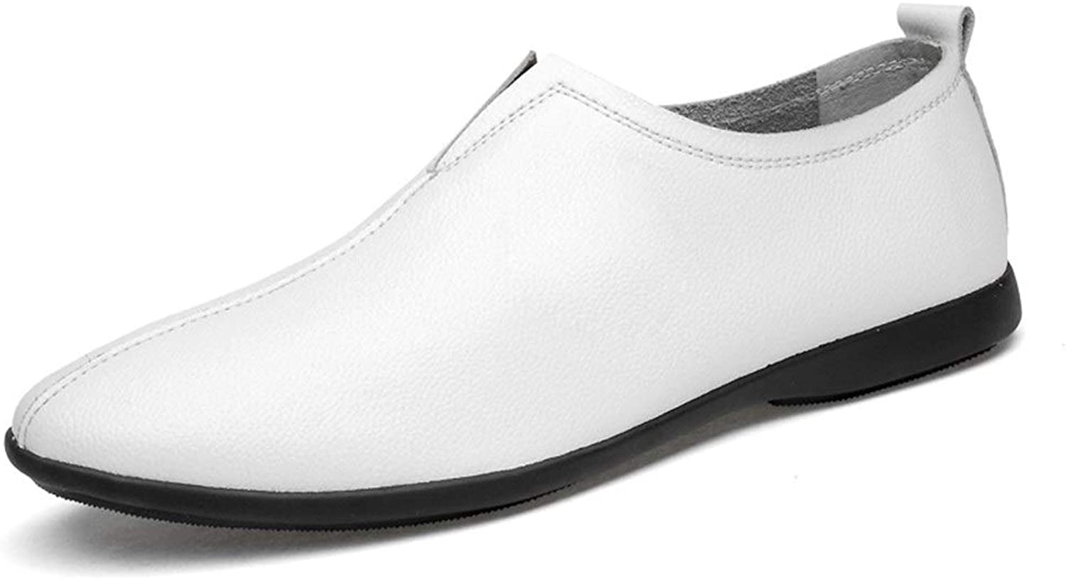 Ino Oxford shoes for Men Genuine Leather Business Coif Wedding Loafers Breathable Lightweight Thin Anti-Slip Flat Slip-on Troll Toe