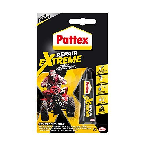 Pattex Repair Extreme, nicht-schrumpfender und flexibler Alleskleber, temperaturbeständiger Reparaturkleber, starker Kleber für innen und außen, 1x8g Tube