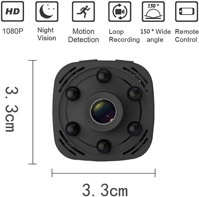 All-Purpose Mini Cámara WiFi HD 1080P Cámara Inalámbrica Oculta Visión Nocturna/Movimiento Activado Grabación de Pantalla Cámara de Seguridad (con aplicación de teléfono Celular)