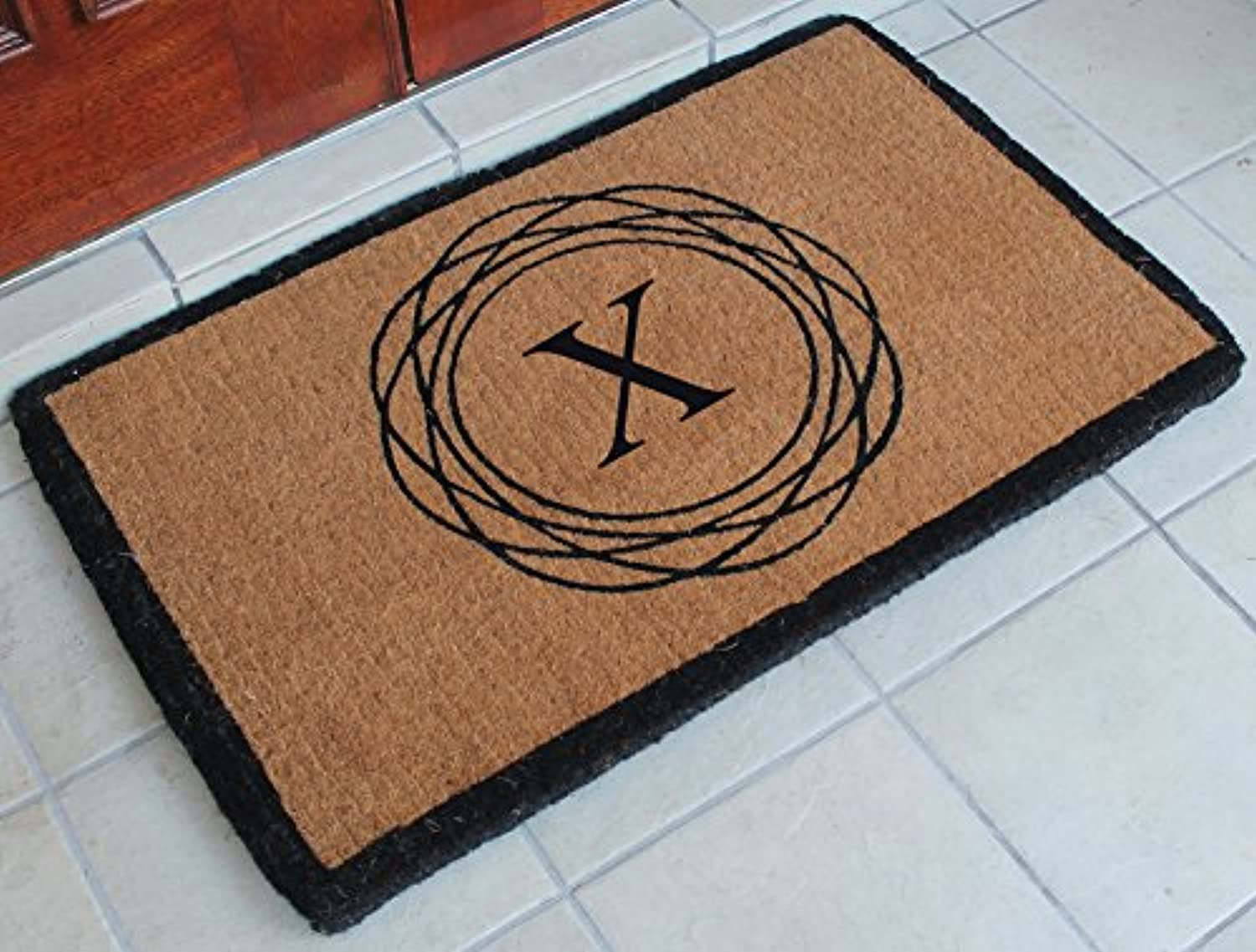 A1 HOME COLLECTIONS FM2004X First Impression Handwoven Extra Thick Kepano Abstract Circle Doormat, Large, 24 x39