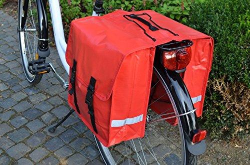 Gravidus Fahrrad-Doppeltasche aus Tarpaulin, 24 Liter (Rot)