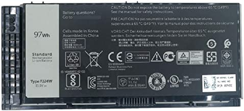 SUNNEAR Compatible/Replacement Laptop Battery for Dell FV993 97WHR M4600 M4800 M4700 M6800 M6600 M6700 M4600 FV993 PG6RC Type FJJ4W