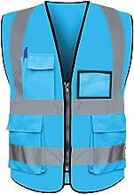 yotijar Colete Reflexivo de Corrida Multi-bolso para Inspeção de Segurança Do Carro - Céu azul