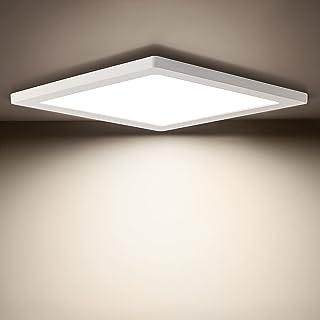 OEEGOO Plafonnier LED Ultra-plat 12W, Lampe de plafond carré Blanc neutre 4000K, Eclairage de plafond 960lm, Plafonnier le...