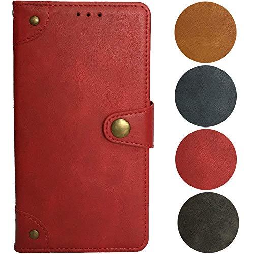 QHTTN Rot Retro Echt Leder Tasche Hülle Für Doro Liberto 825 824 824C 5