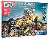 Clementoni-55347 - Mechanics - Excavadora - juego de construcciones mecánica a partir de 8 años