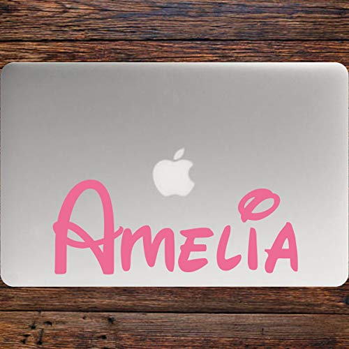 Personalised, custom, name, Laptop vinyl sticker decal. Preview availabl