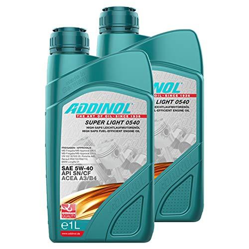 Addinol 2X Motoröl Motorenöl Motor Motoren Motor Oil Engine Oil Benzin Diesel 5W-40 Super Light 0540 1L 72097707