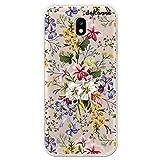 dakanna Funda Compatible con [Samsung Galaxy J5 2017] de Silicona Flexible, Dibujo Diseño [Ramo de Flores], Color [Fondo Transparente] Carcasa Case Cover de Gel TPU para Smartphone