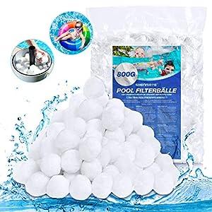 Bolas Filtro para Piscina 800g, Alternative para Arena de Depuradora Piscina de 29kg, Material Filtro Duradero y Reutilizable para Depuradora Piscina y Acuario, Puede Filtrar Bacterias y Algas