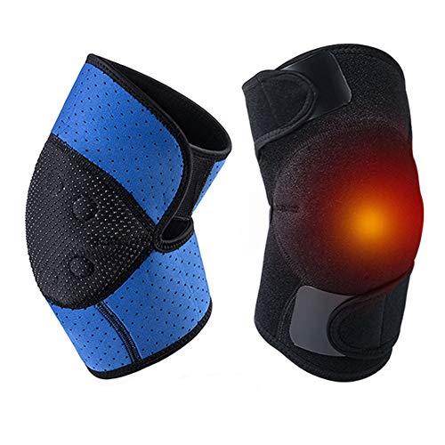 WYSDD Turmalin Selbsterhitzungs-Kniebandage, 1 Paar Verstellbare Turmalin-Magnet-Therapie-Kniebandage, Geeignet Für Knie-Arthrose, Knochen-Hyperplasie