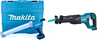 Makita DCG180ZBK 18V Li-ion LXT Caulking Gun Supplied in a Carry Case – Batteries and Charger Not Included & DJR186Z Recip...