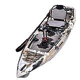 Winmax Sit on Top Kajak-Set mit dem Pedalantrieb,332x87.5x33 cm,hohe Stabilität auf dem Wasser
