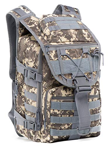 Mochila militar tática da Supersun – Mochila tática Molle mochila saco de sobrevivência saco de pancadas, Laptop, D Acu, One_Size