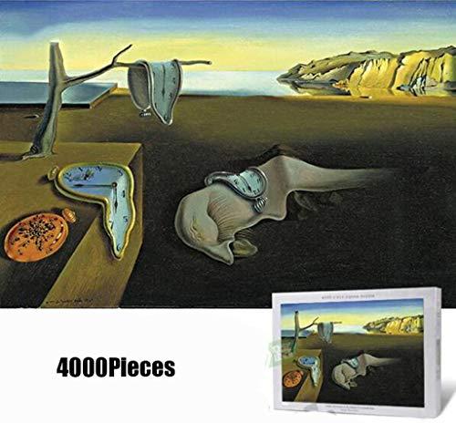 4000Piece Jigsaw Puzzle La persistencia de la memoria de Salvador Dali ilustraciones del arte de adolescente adulto Grown Up Rompecabezas de gran tamaño del juguete educativo del regalo Juegos 8-12yea