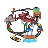 Thomas & Friends Talking Thomas & Percy Train Set, large motorized train and track set for kids ages 3 years and older