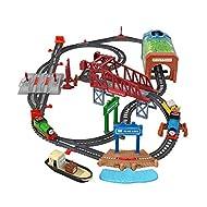 Fisher-Price Thomas & Friends Talking Thomas & Percy Train Set - UK English Edition, motorized trai...