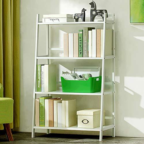 TOPYL boekenkast ladder plank opslag organisator multifunctionele scherm rack voor boeken foto's planten, bamboe opslag plank rack