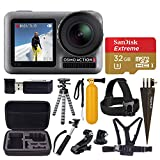 DJI Osmo Action 4K Camera + 32GB Extreme microSDHC Memory Card + Monopod + Flexible Tripod + Head & Chest Strap + Floating Handle + Spike Mount + USB Card Reader + Tripod & J-Hook Mount – Top Bundle