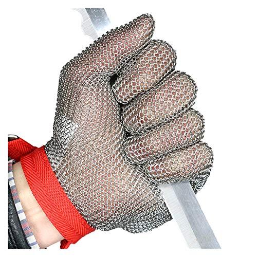 Schnittfeste Handschuhe Schneideständige Handschuhe, 304l Edelstahl-Sicherheitsarbeitshandschuhe, Für Linke Und Rechte Hände, 6 Größen (Size : X-Large)