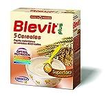 Blevit Plus Superfibra 5 Cereales - Papilla de Cereales para Bebé Con Avena y Arroz Integral, Sin Azúcares Añadidos - Facilita la Digestión - Desde los 4 meses - 600g.