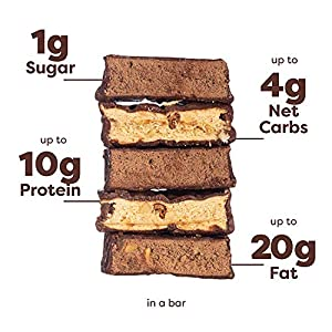 Kiss My Keto Bars - Low Carb (3g Net), Low Sugar Keto Snack Bars | Chocolate Variety Pack, 12 Pack | Rich in Ketogenic Fats & Protein #1