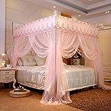 Mosquitero Neta de Cama o al Aire Libre Red, Sankaimen Square Techo del Palacio Mosquitera Doble Princesa Style-Pink_150 * 200cm-22mm mosquiteros para Cama (Color : Jade, Size : 180 * 200cm22mm)