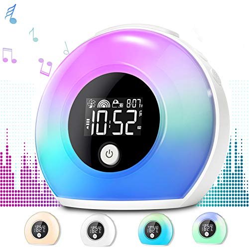 Product Image of the Wake Up Light Alarm Clock with Bluetooth Speaker Uplayteck, Table Lamp Alarm...
