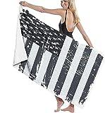 Strandtücher Mikrofaser,Usa-Flagge Alte Amerikanische Flagge Großes Badetuch Leichtes Strandtuch Ideal Für Familienhotels Reisen Schwimmen Fitness Sport