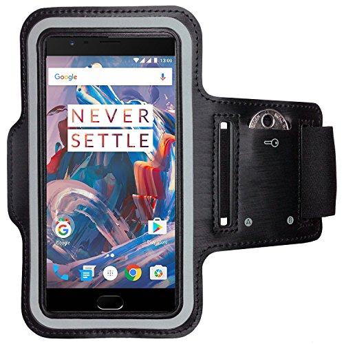 CoverKingz Sportarmband für OnePlus 3 - Armtasche mit Schlüsselfach OnePlus 3 - Sport Laufarmband Handy Armband Schwarz