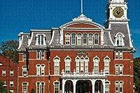 ノーウィッチコネチカット市庁舎USAジグソーパズル大人用1000ピース木製トラベルギフトお土産
