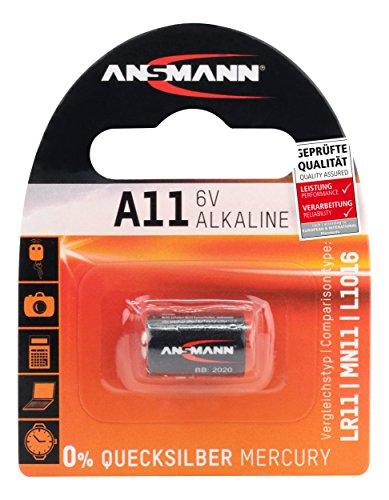 ANSMANN A11 Alkaline Batterie (6V) MN11, V11A, E11A Univeral-Zelle u.a. für Garagentoröffner, Alarmanlage, Funkauslöser für Kamera, Messgeräte, Klingel usw..