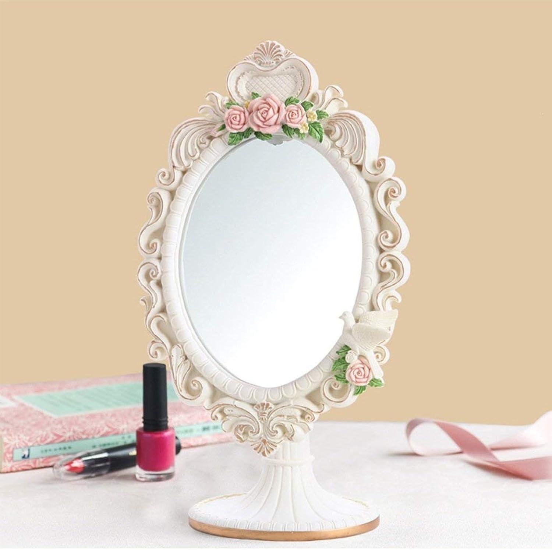 XIUXIU Mirror Nordic Simple Three-Dimensional Flower Vanity Mirror High List Adjustable Beauty Mirror