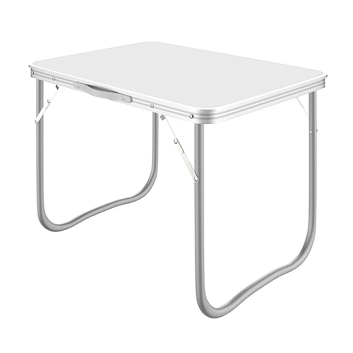 社会主義満足できる上院壁掛け式 多機能折りたたみテーブル、屋外折りたたみテーブル、家庭用シンプル折りたたみテーブル、軽量ポータブル折りたたみテーブル (Color : White, Size : 80×60×70cm)